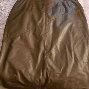 Dresses & Skirts - Brown leather skirt